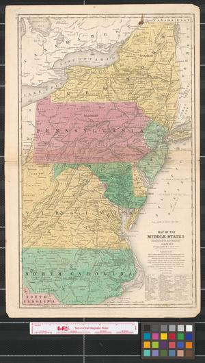 Primary view of Map of the Middle States : designed to accompany Smith's Geography for schools.