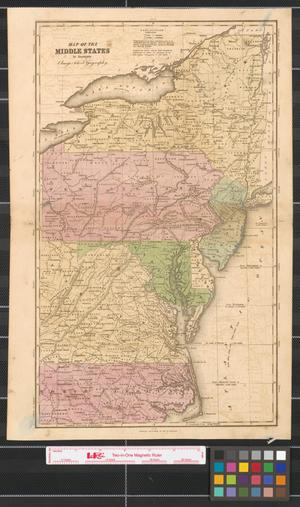 Primary view of Map of the Middle States: to illustrate Olney's School Geography.