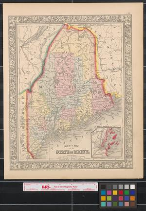 Primary view of County map of the state of Maine.