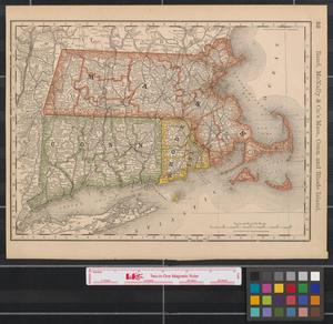 Primary view of object titled 'Rand, McNally & Co.'s Mass., Conn. and Rhode Island.'.