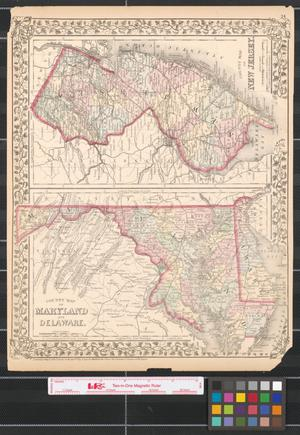 Primary view of object titled 'County map of Maryland and Delaware.'.
