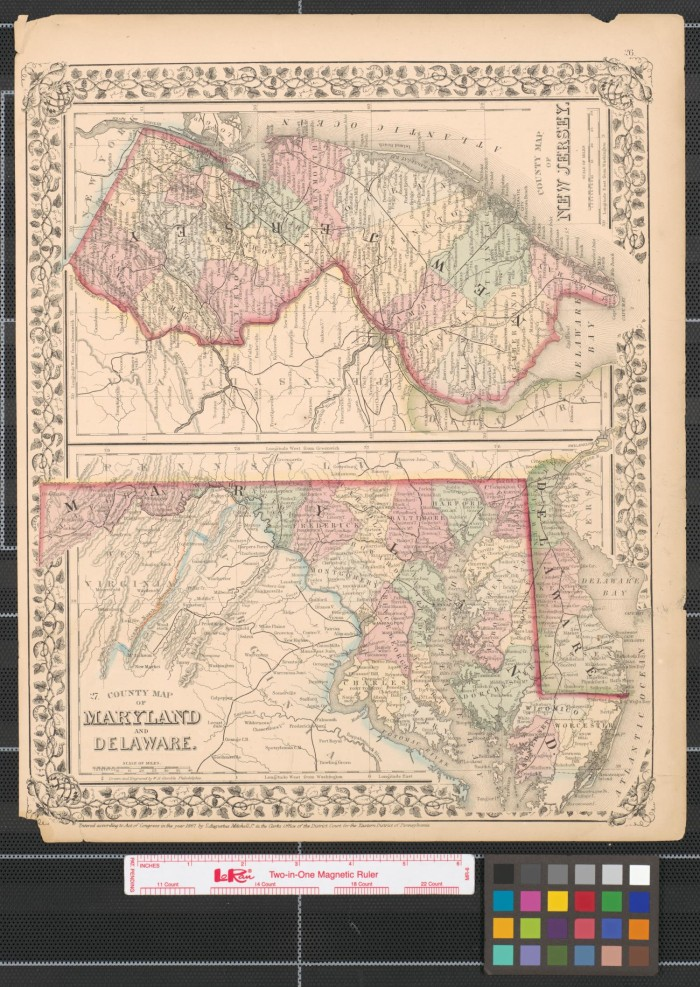 County map of Maryland and Delaware. - The Portal to Texas History