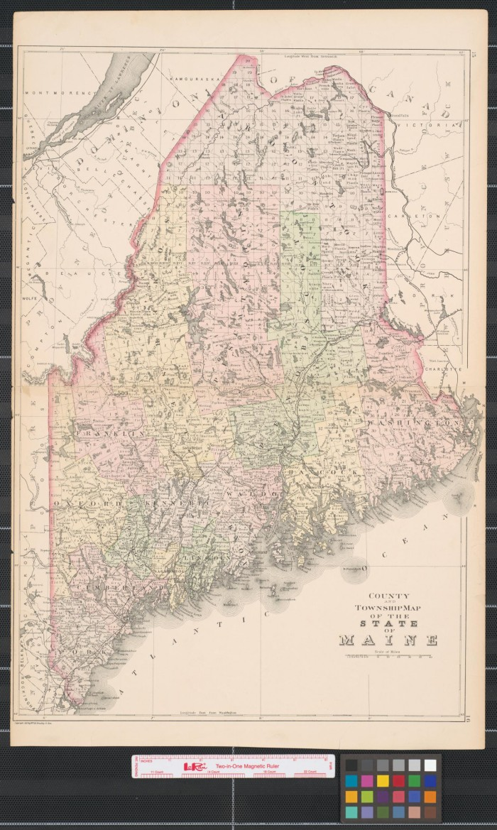 County And Township Map Of The State Of Maine The Portal To - Maine county map