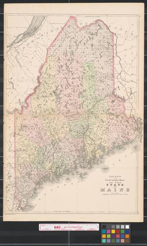 County And Township Map Of The State Of Maine The Portal To - Map of the state of maine