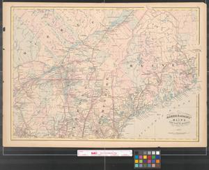 Primary view of object titled 'Asher & Adams' Maine and part of Quebec.'.