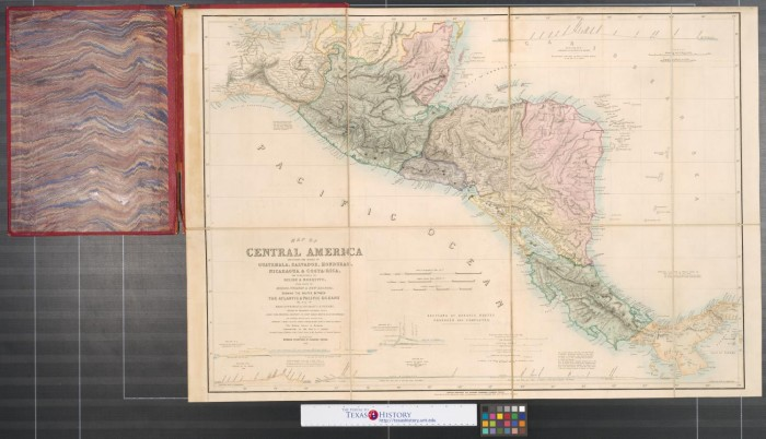 Map Of Central America Including The States Of Guatemala Salvador - Nicaragua map honduras