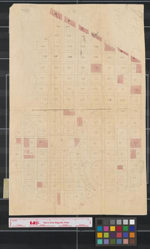 Primary view of object titled '[Map of a town near Saint Paul, Minnesota]'.
