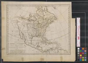 Primary view of Carte de l'Amerique septentrionale pour servir à l'histoire de la Nouvelle France, 1743.