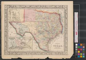 Primary view of object titled 'County map of Texas.'.