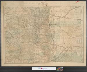 Primary view of object titled 'Nell's topographical map of the state of Colorado.'.
