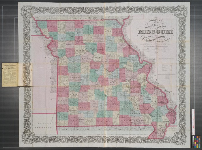 Coltons new sectional map of the state of Missouri compiled from