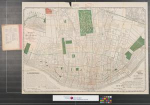 Primary view of Shewey's map, city St. Louis.
