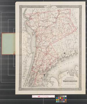 Primary view of object titled 'Colton's map of the county of Westchester.'.