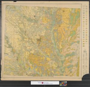 Primary view of object titled 'Soil map, Texas, Denton County.'.