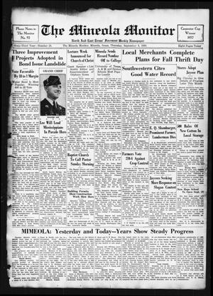 Primary view of object titled 'The Mineola Monitor (Mineola, Tex.), Vol. 63, No. 24, Ed. 1 Thursday, September 8, 1938'.