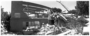 [The Demolition of the First Baptist Church, 11 of 11:   Partially Demolished]