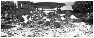 Primary view of object titled '[The Demolition of the First Baptist Church, 10 of 11:   Frame and Rubble]'.