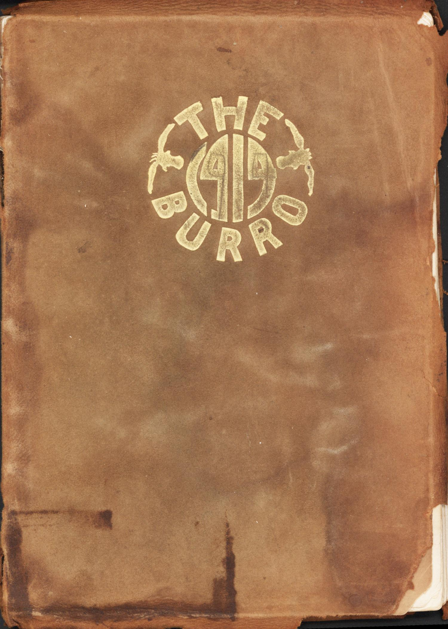 The Burro, Yearbook of Mineral Wells High School, 1914                                                                                                      Front Cover