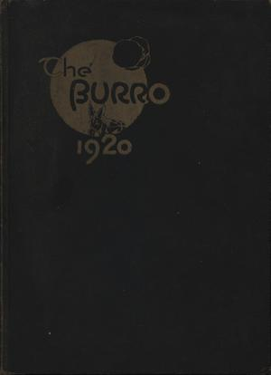 Primary view of object titled 'The Burro, Yearbook of Mineral Wells High School, 1920'.