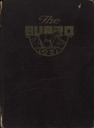 The Burro, Yearbook of Mineral Wells High School, 1921