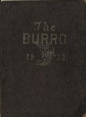 Primary view of object titled 'The Burro, Yearbook of Mineral Wells High School, 1922'.