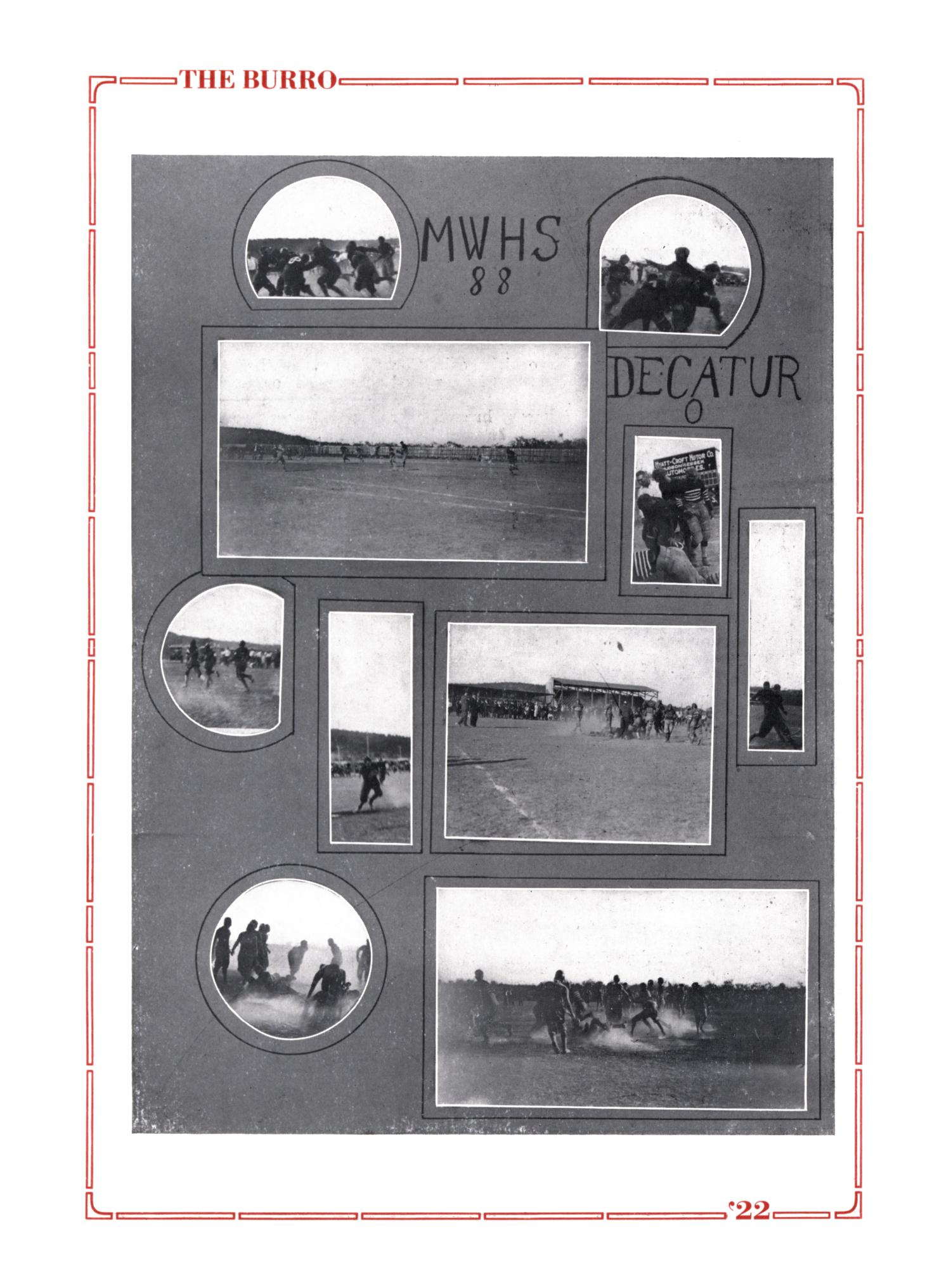 The Burro, Yearbook of Mineral Wells High School, 1922                                                                                                      67