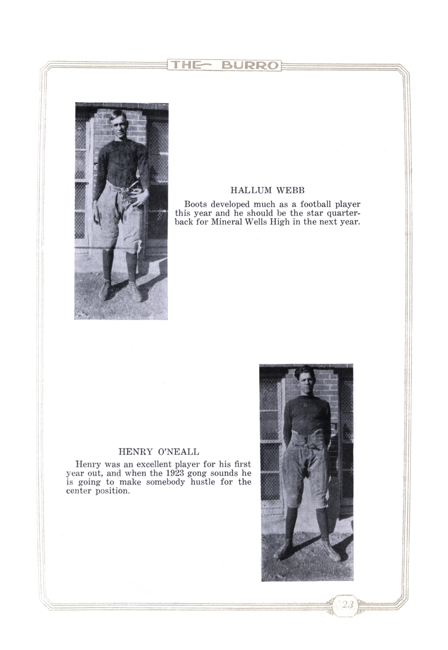 The Burro, Yearbook of Mineral Wells High School, 1923                                                                                                      84