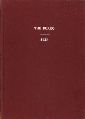 The Burro, Yearbook of Mineral Wells High School, 1923