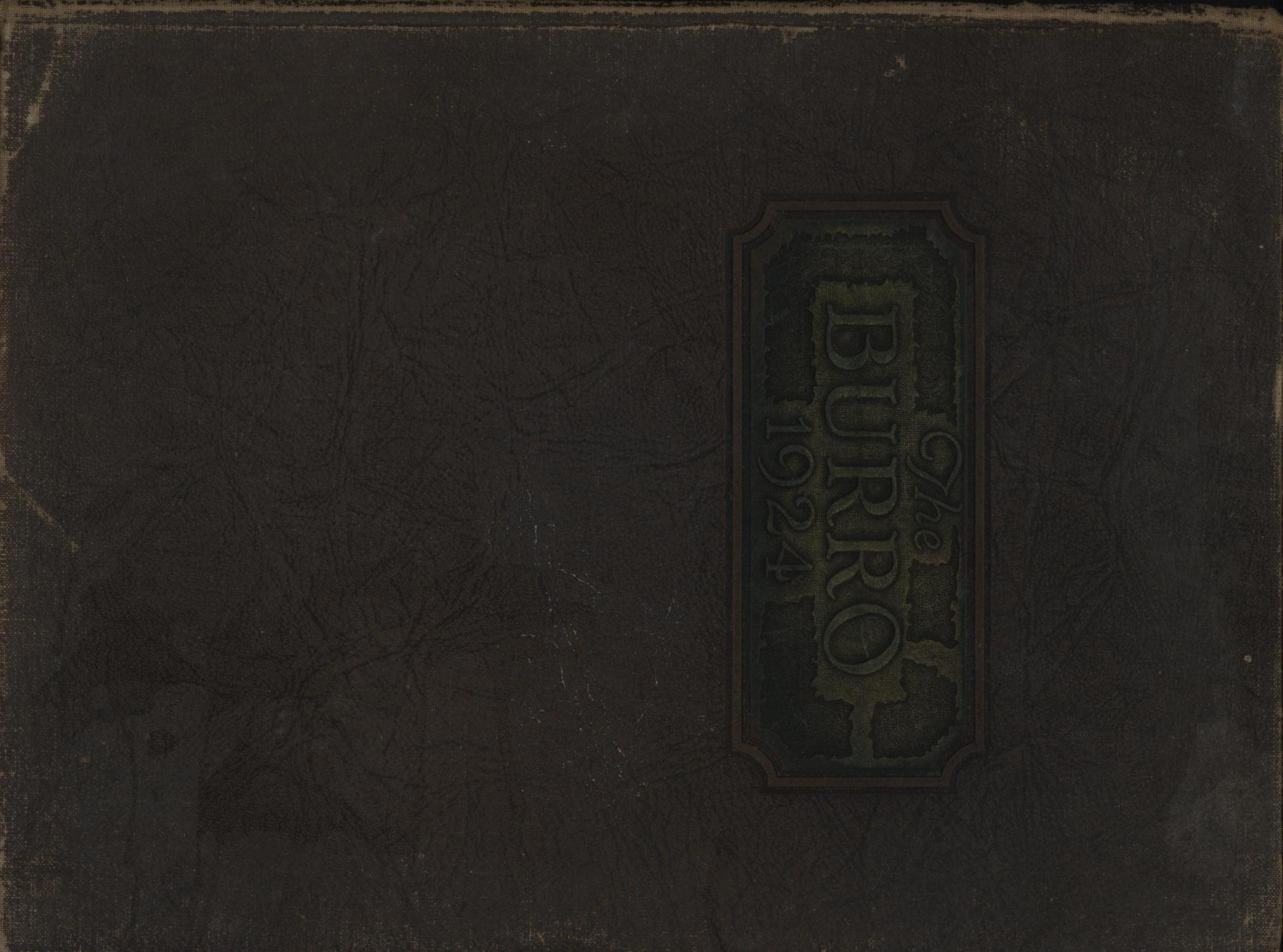 The Burro, Yearbook of Mineral Wells High School, 1924                                                                                                      Front Cover