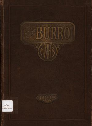 Primary view of object titled 'The Burro, Yearbook of Mineral Wells High School, 1925'.