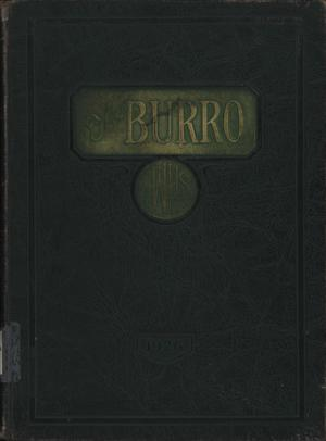 Primary view of object titled 'The Burro, Yearbook of Mineral Wells High School, 1926'.