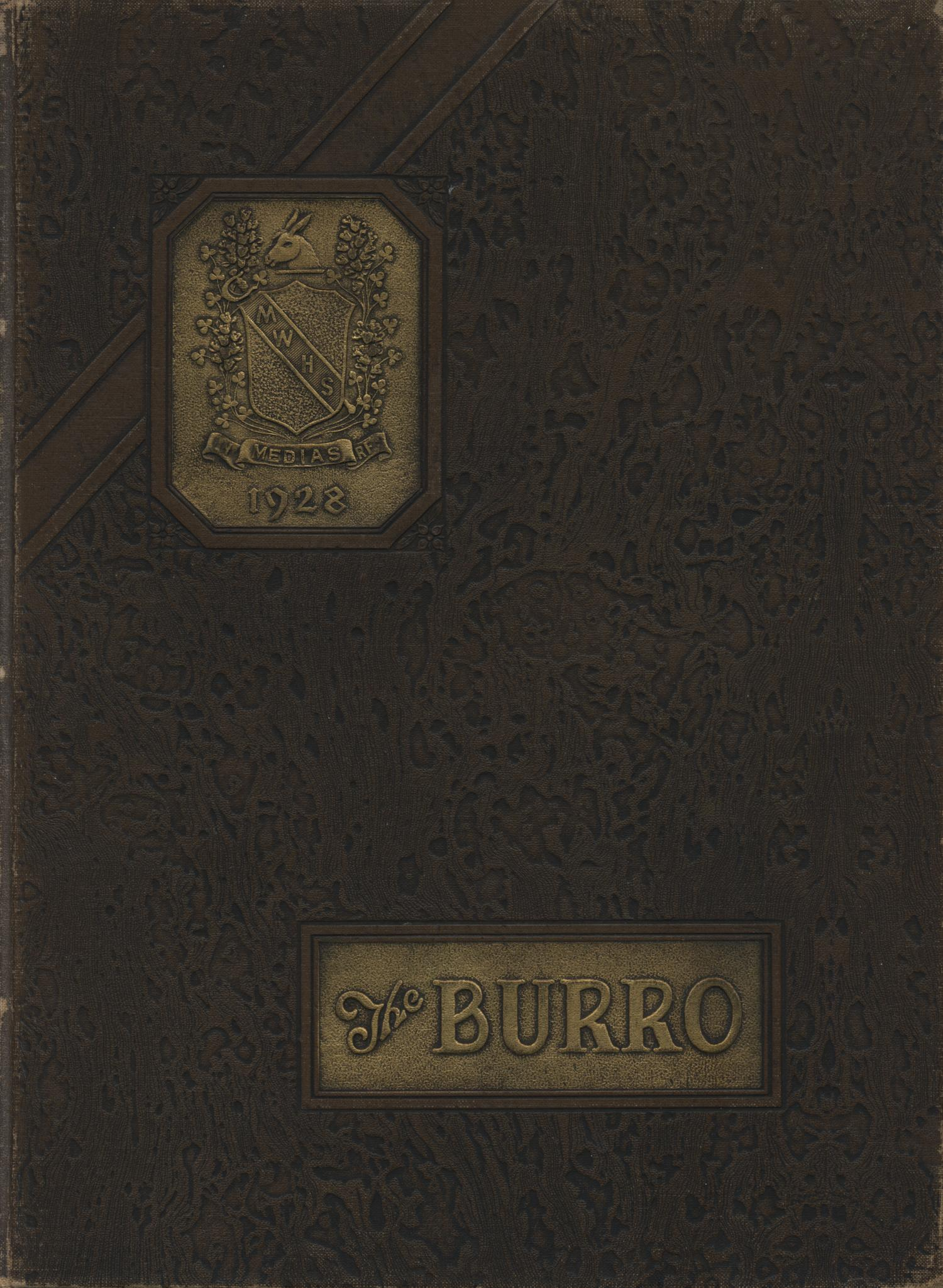 The Burro, Yearbook of Mineral Wells High School, 1928                                                                                                      Front Cover