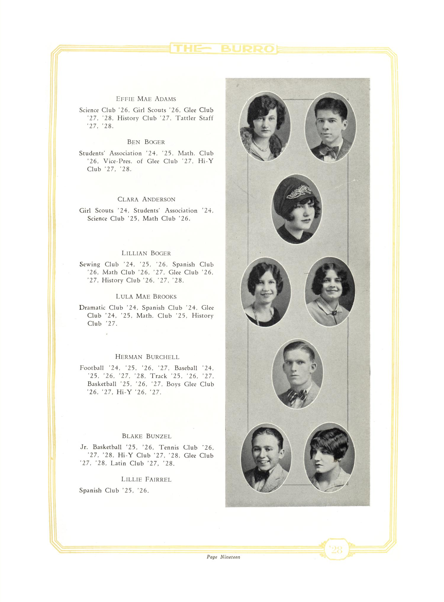 The Burro, Yearbook of Mineral Wells High School, 1928                                                                                                      19