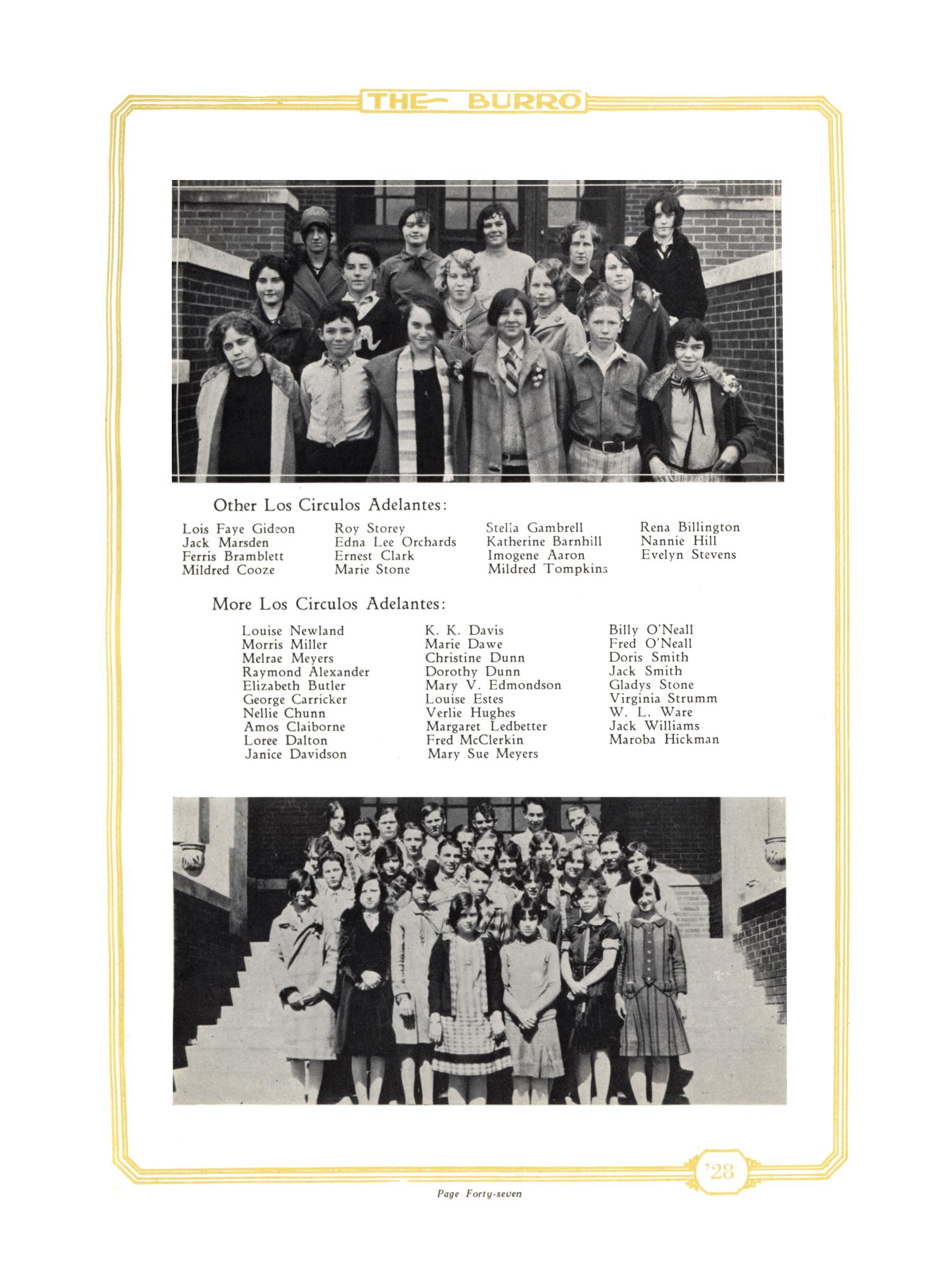 The Burro, Yearbook of Mineral Wells High School, 1928                                                                                                      47
