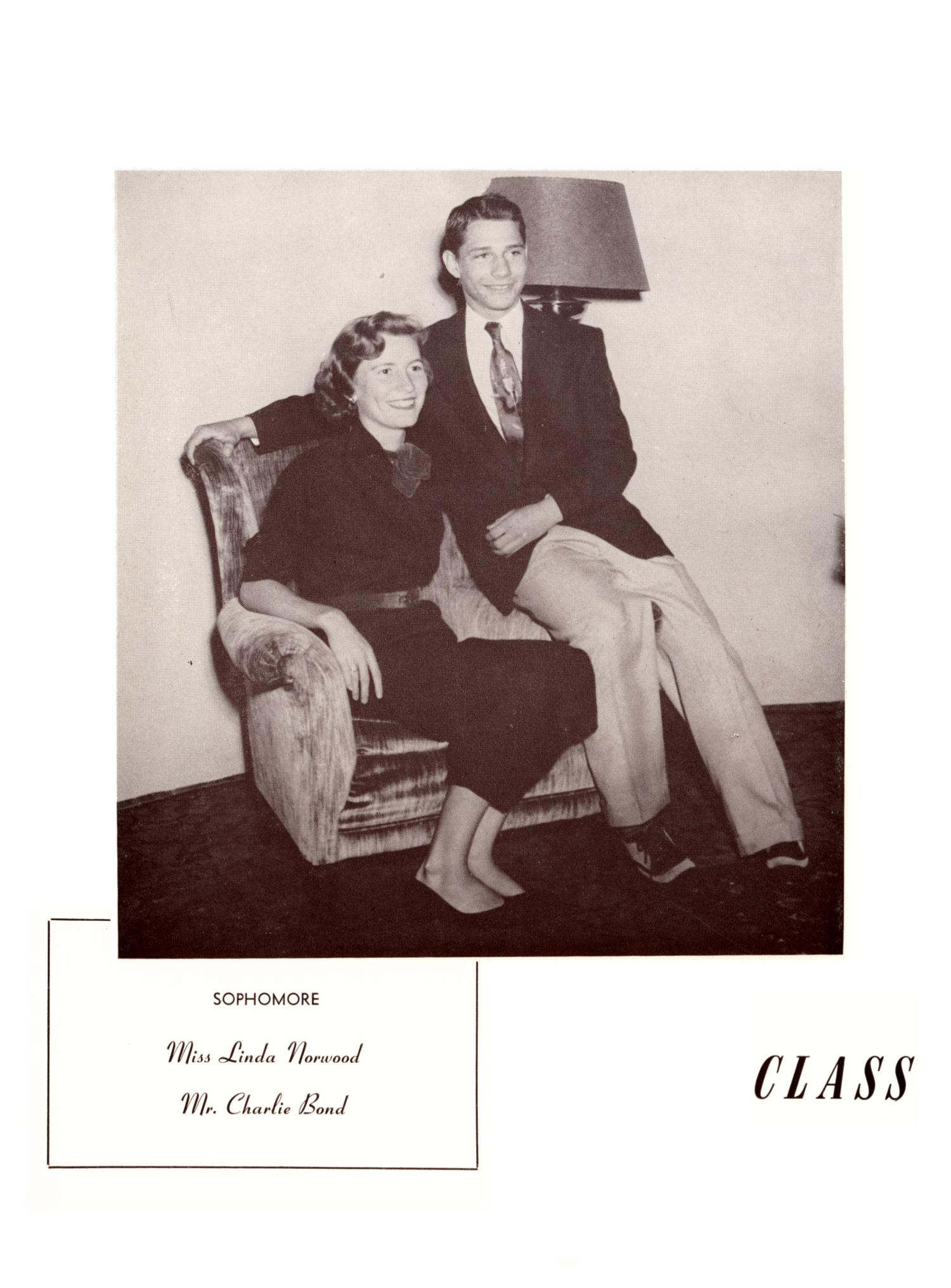 The Burro, Yearbook of Mineral Wells High School, 1953                                                                                                      44