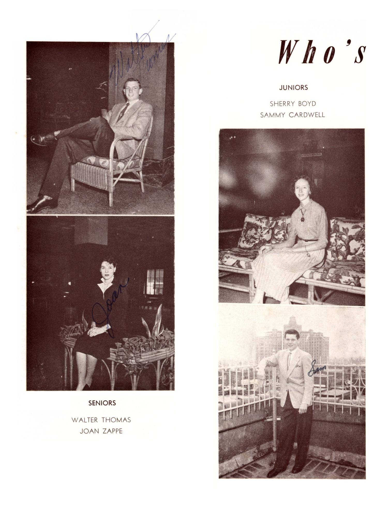 The Burro, Yearbook of Mineral Wells High School, 1953                                                                                                      46