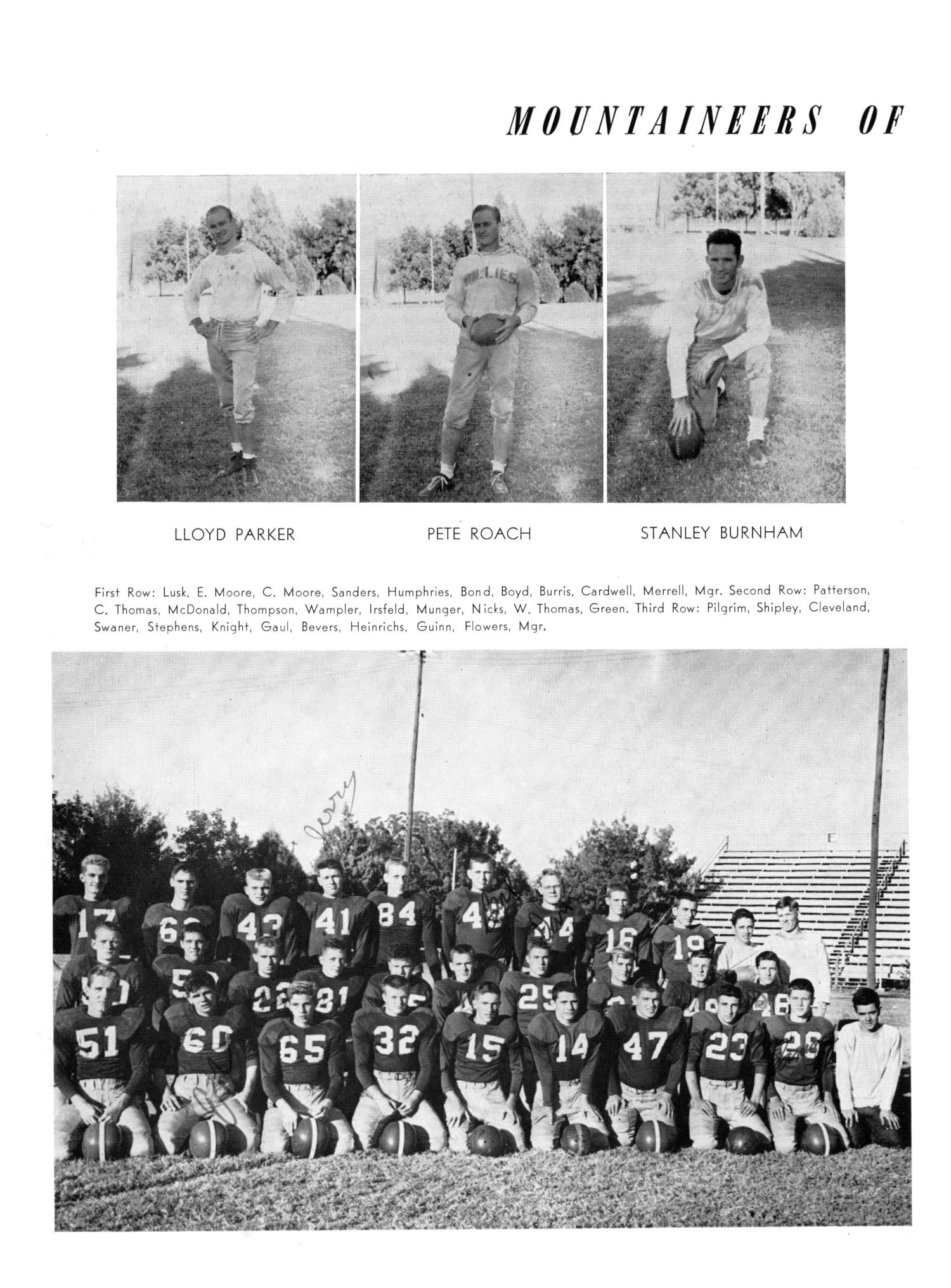 The Burro, Yearbook of Mineral Wells High School, 1953                                                                                                      56