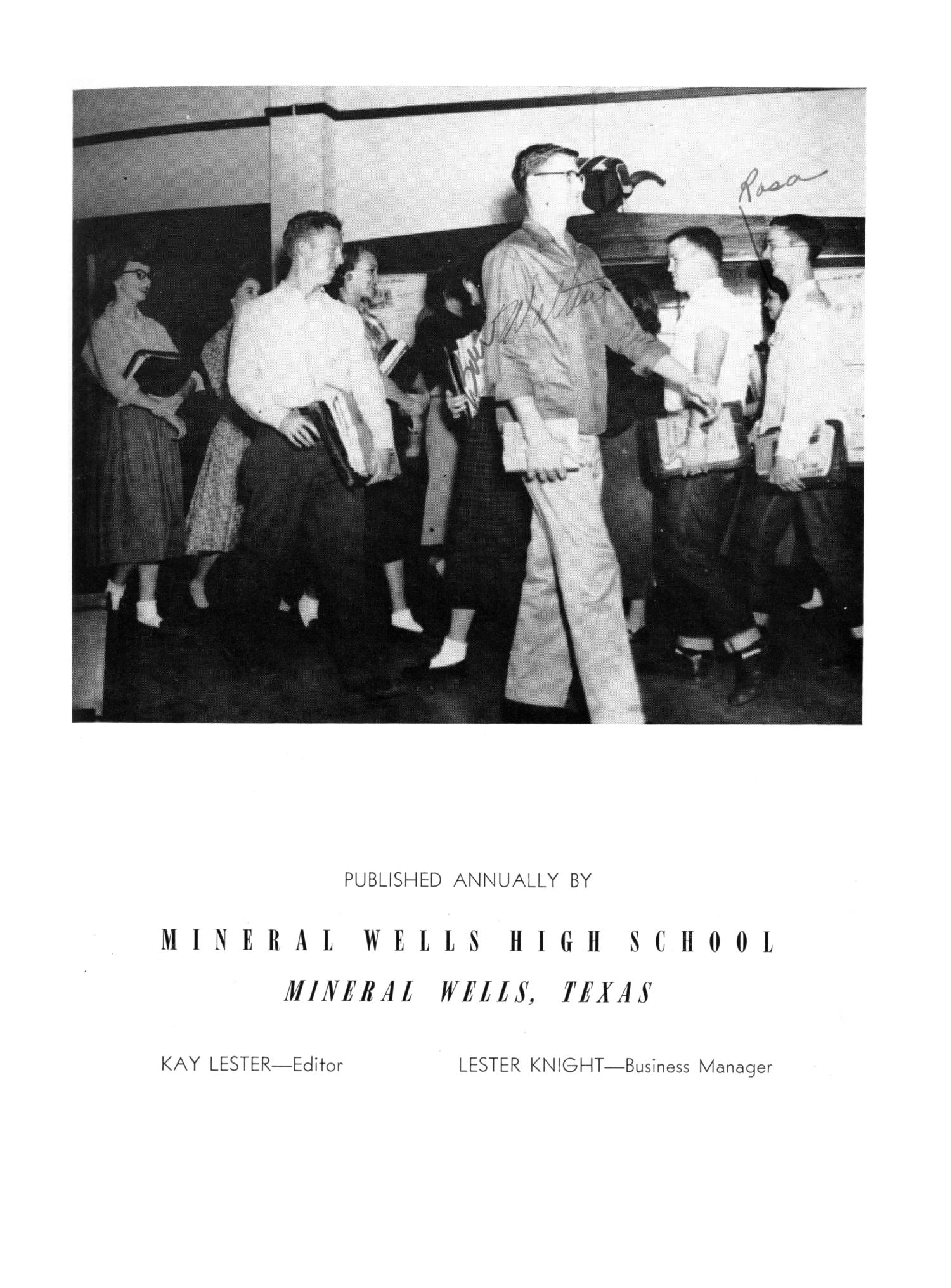 The Burro, Yearbook of Mineral Wells High School, 1953                                                                                                      3