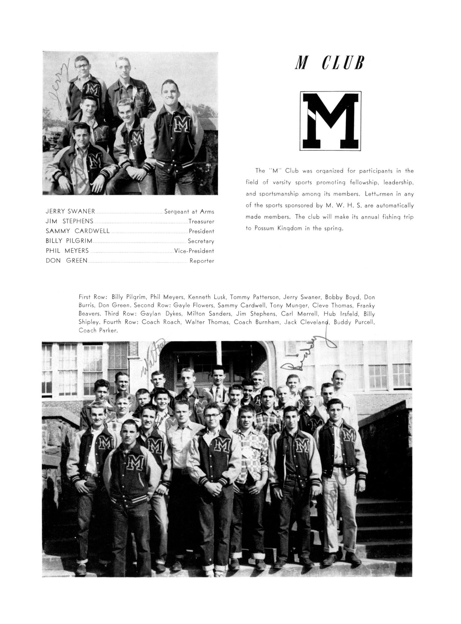 The Burro, Yearbook of Mineral Wells High School, 1953                                                                                                      74