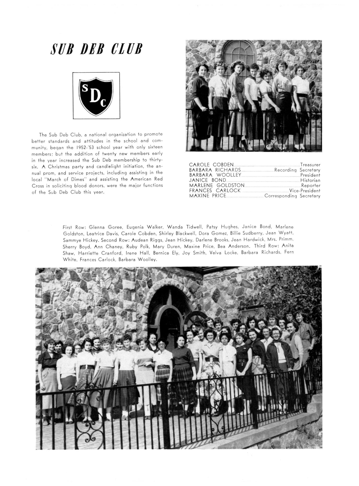 The Burro, Yearbook of Mineral Wells High School, 1953                                                                                                      75