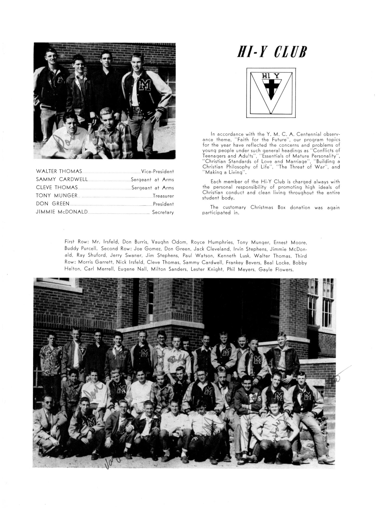 The Burro, Yearbook of Mineral Wells High School, 1953                                                                                                      76