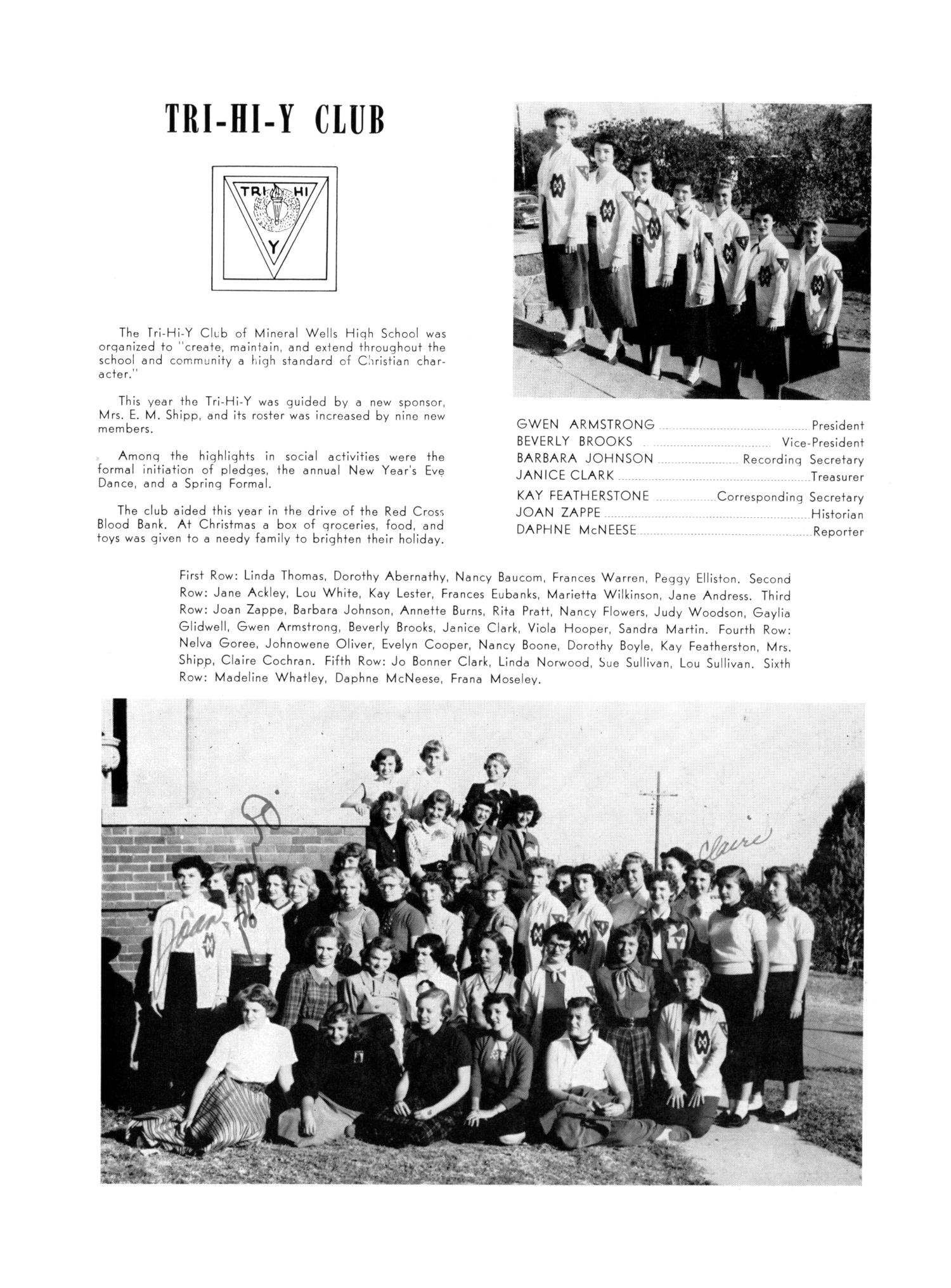 The Burro, Yearbook of Mineral Wells High School, 1953                                                                                                      77
