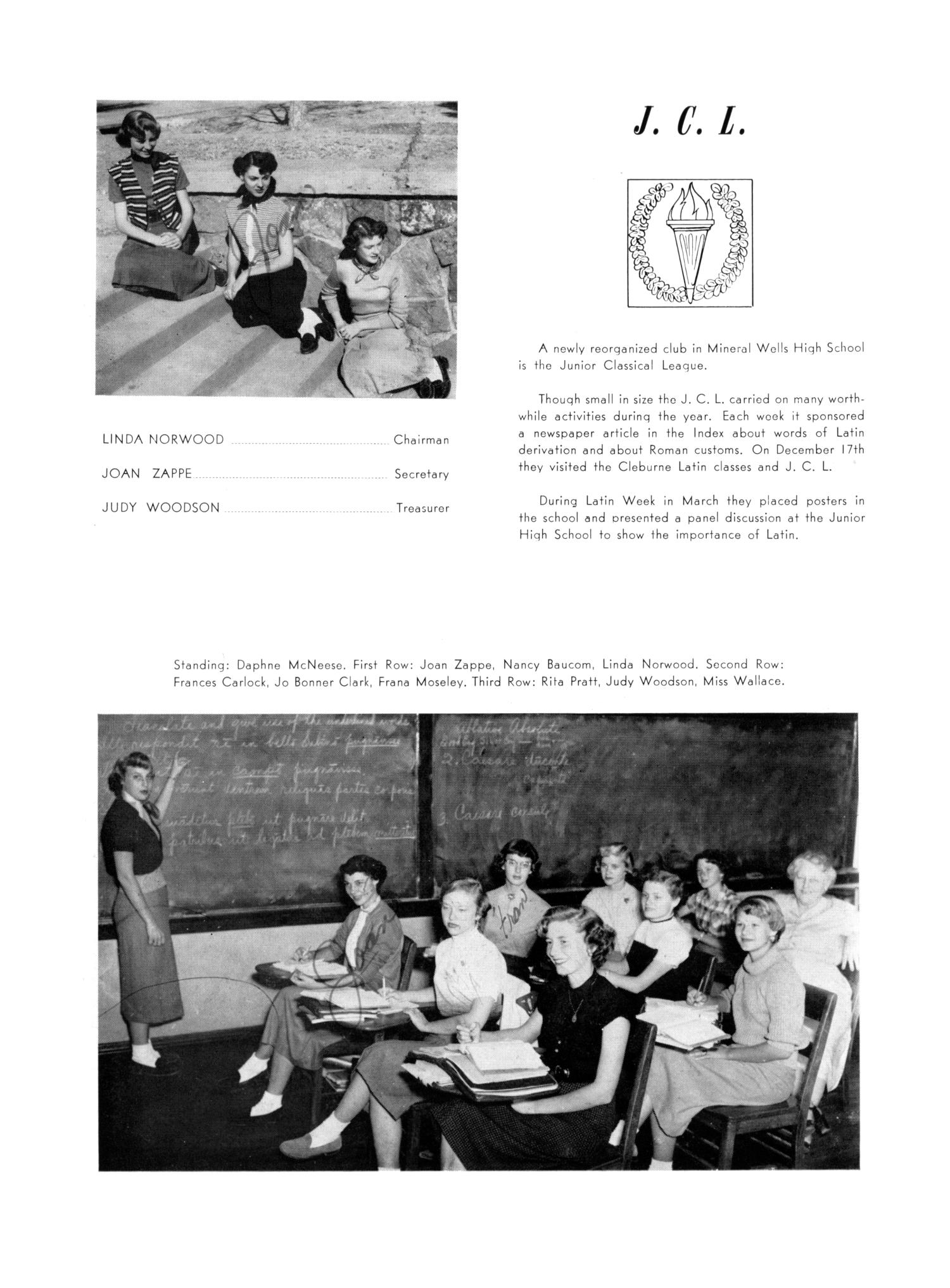The Burro, Yearbook of Mineral Wells High School, 1953                                                                                                      78