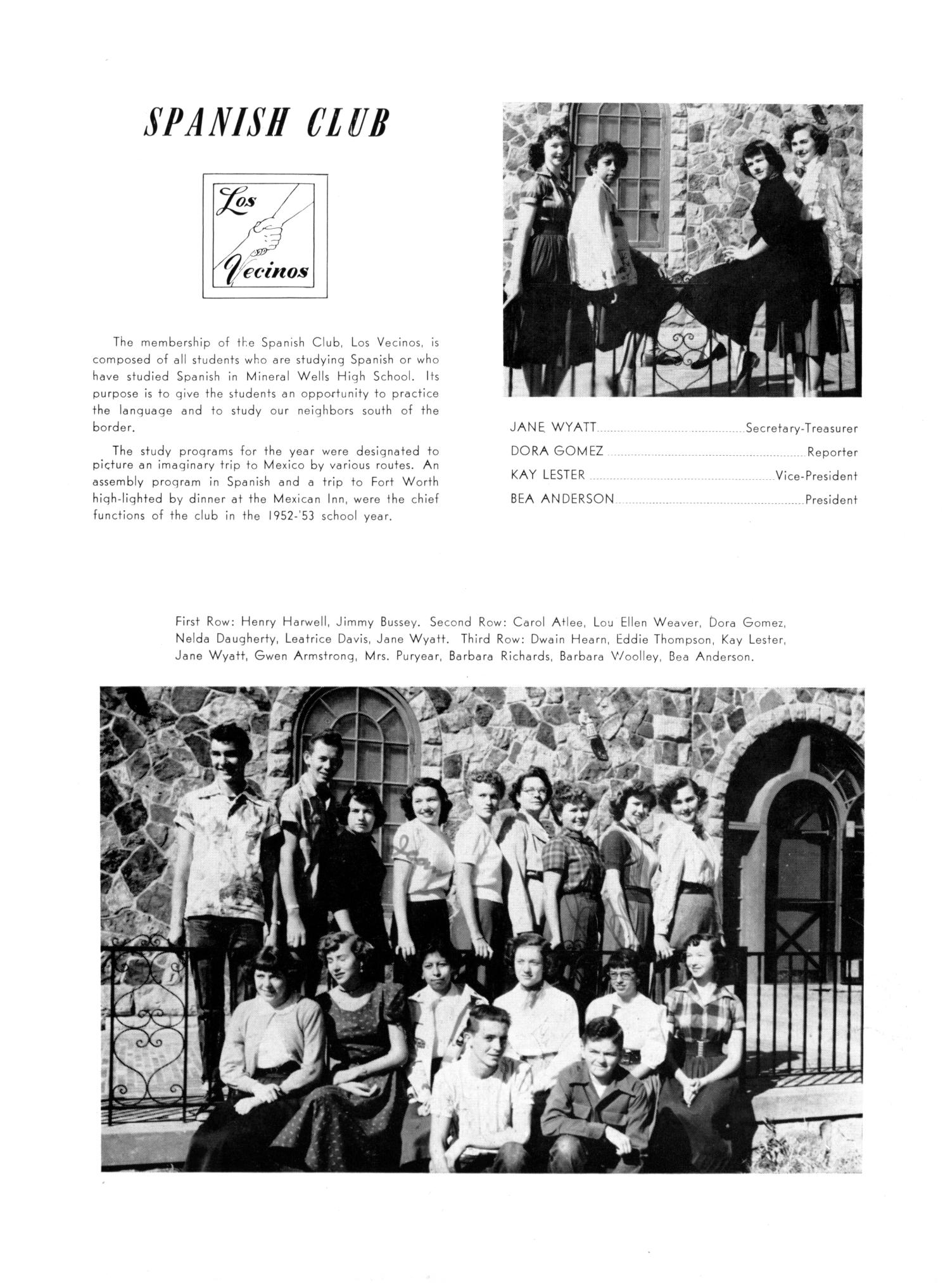The Burro, Yearbook of Mineral Wells High School, 1953                                                                                                      79