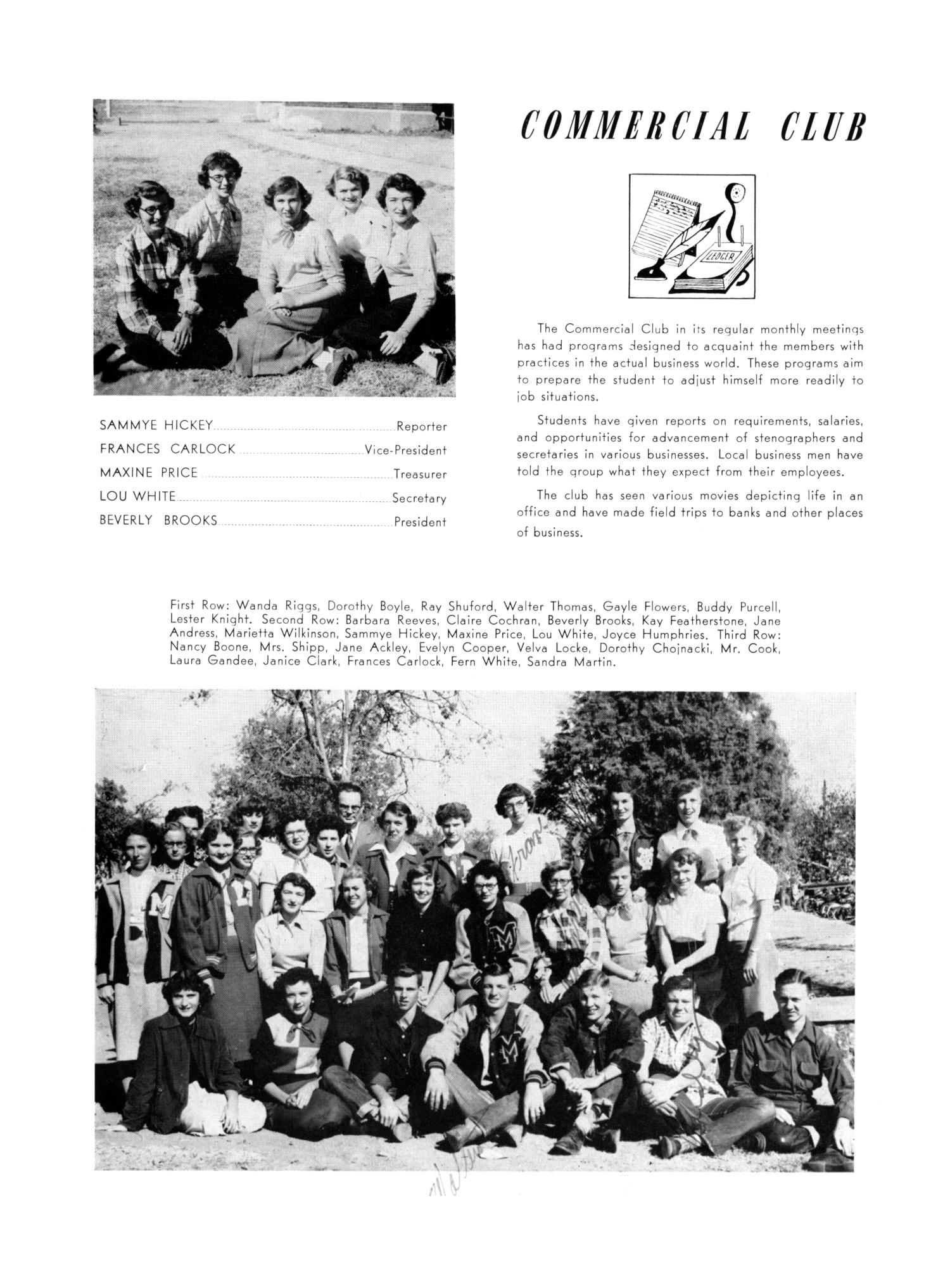 The Burro, Yearbook of Mineral Wells High School, 1953                                                                                                      80