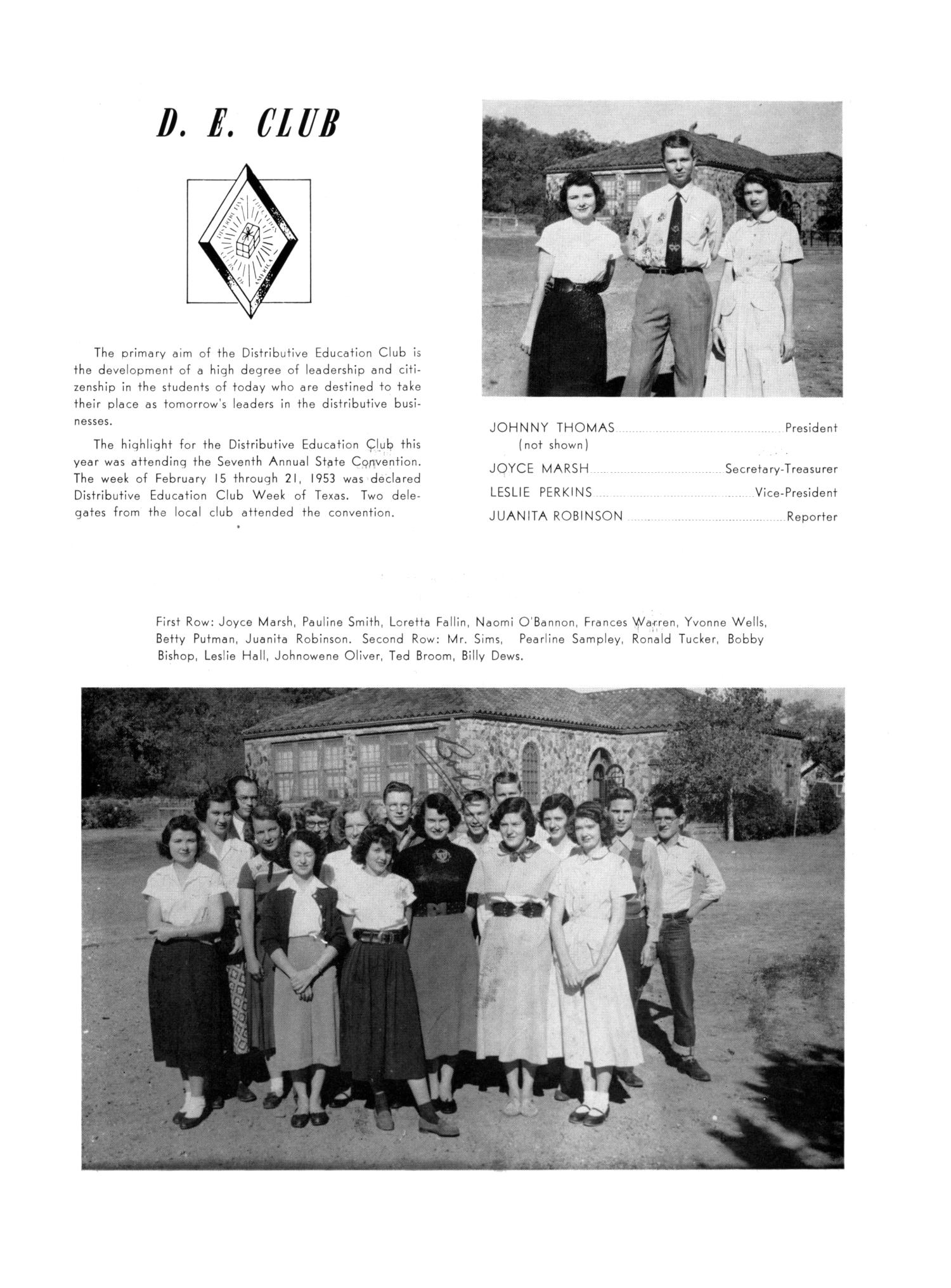 The Burro, Yearbook of Mineral Wells High School, 1953                                                                                                      81