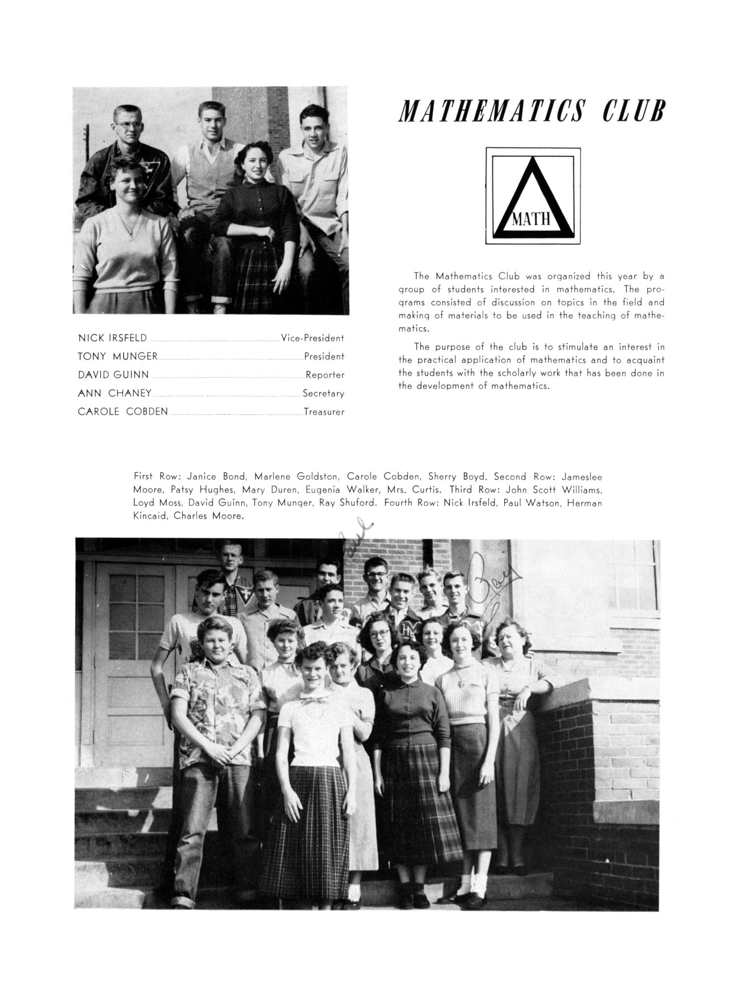 The Burro, Yearbook of Mineral Wells High School, 1953                                                                                                      84