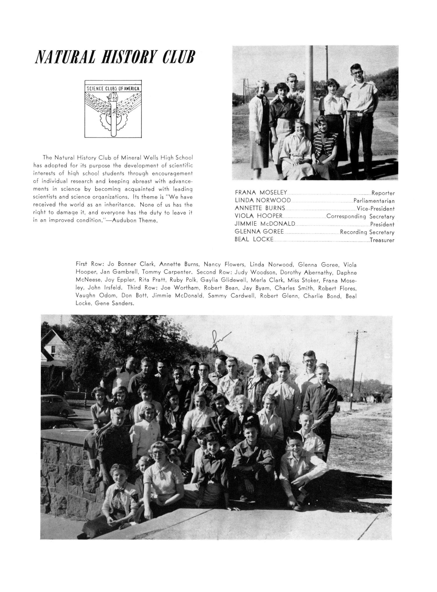 The Burro, Yearbook of Mineral Wells High School, 1953                                                                                                      85