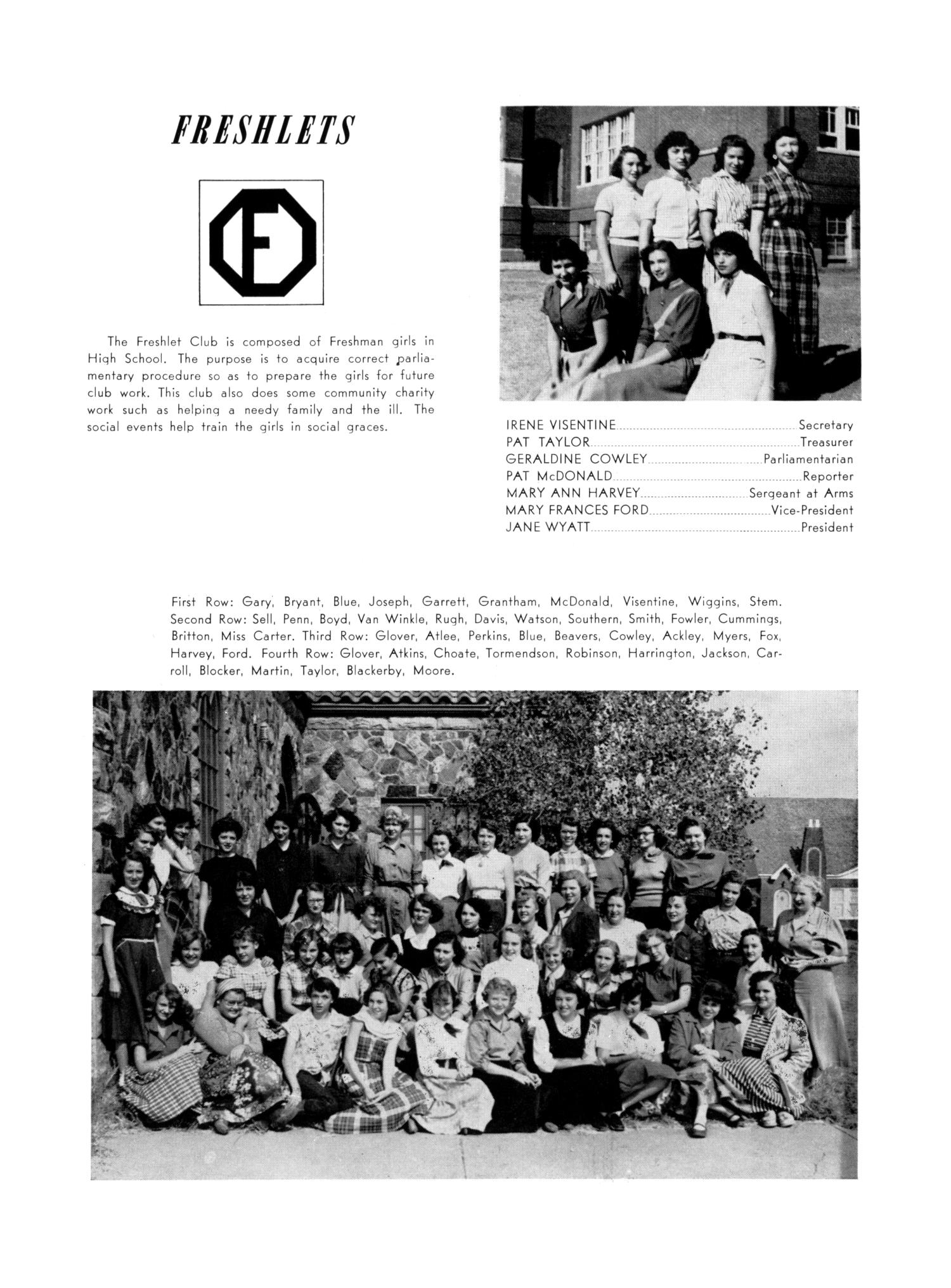 The Burro, Yearbook of Mineral Wells High School, 1953                                                                                                      87