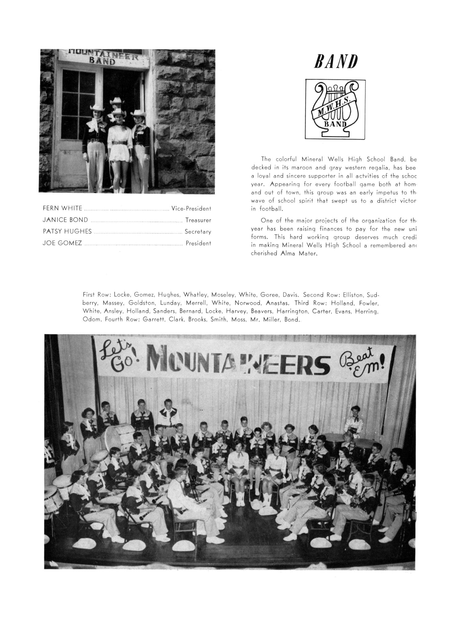 The Burro, Yearbook of Mineral Wells High School, 1953                                                                                                      94